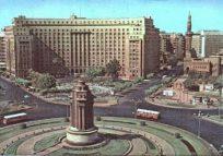 القاعدة الحجرية للتمثال بميدان التحرير