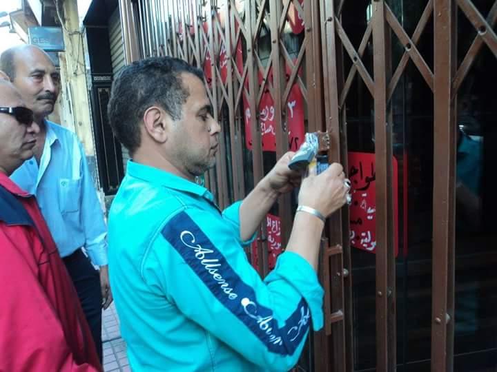غلق المطعم الأموي السوري بشارع عبد الخالق ثروت 2