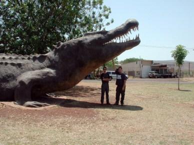 Heath and Gavin big croc