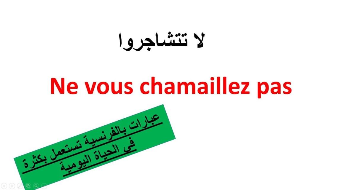 فيديو | عبارات  لتتكلم الفرنسية بسرعة– تعلم الفرنسية