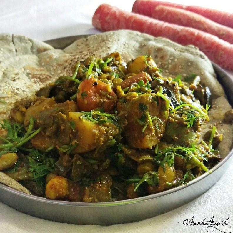 bhogi bhaji on Bajra bhaji