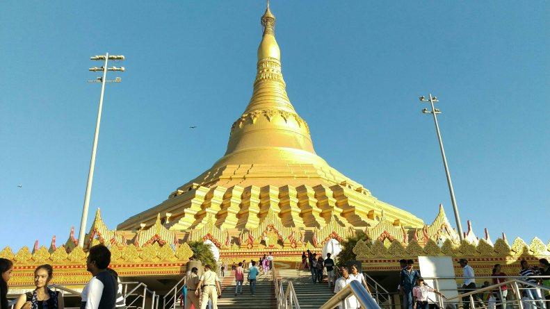 Global Vipassana Pagoda - landscape view