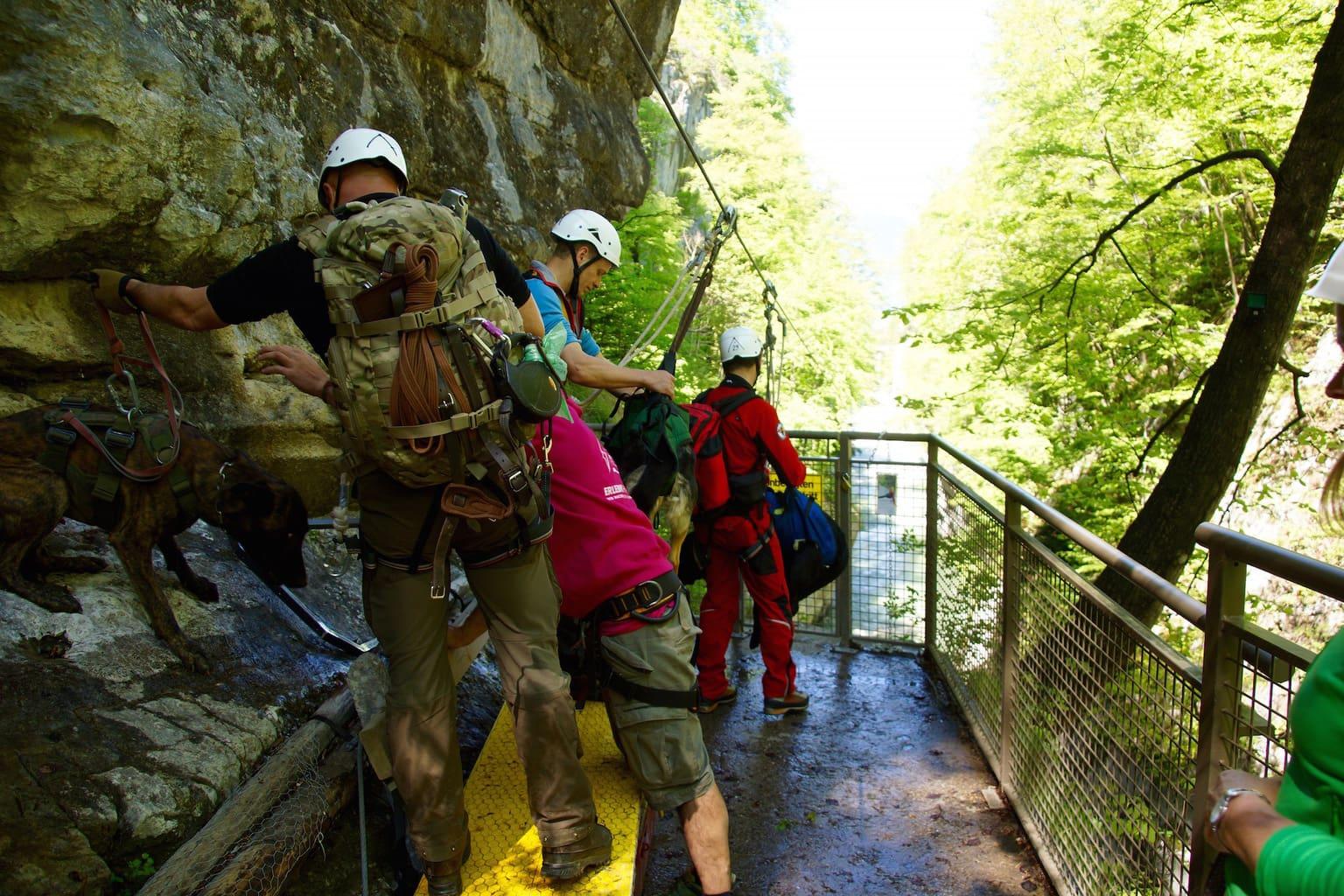 Mantrailing-Einsatzübung im Tennengebirge