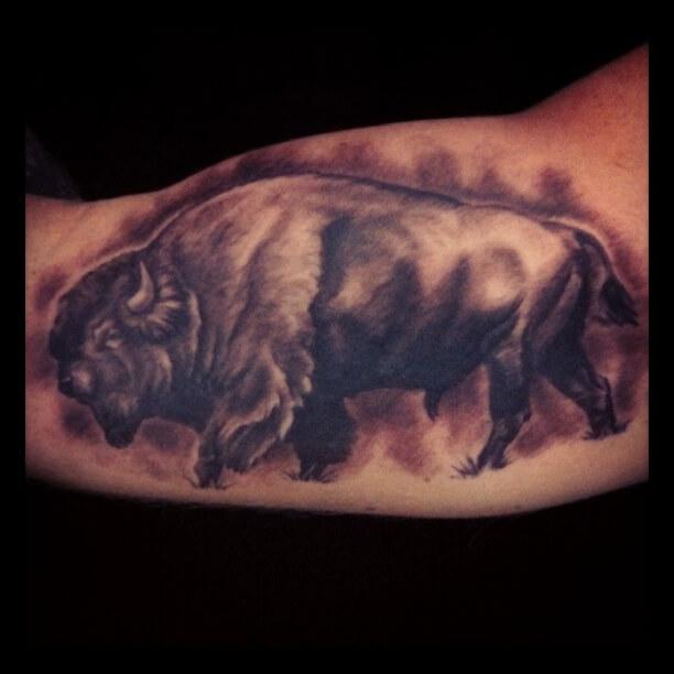 Bbuffalo Black and Grey tattoo