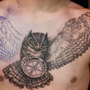 Brian Blalock Owl Tattoo