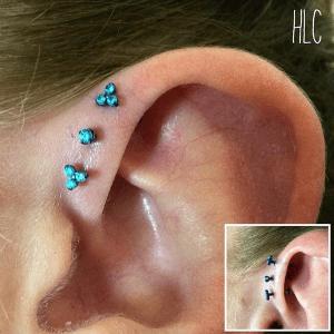 Triple forward helix by Lil Chris with Neometal Jewelry