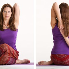 Posture Chair Benefits Rolling Dining Chairs Gomukhasana -cow Face Pose – Yoga Teacher Training India Mantra School