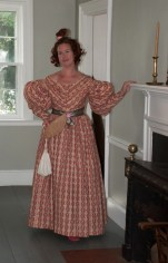 1830s Roller Print Cotton Dress - Finis!