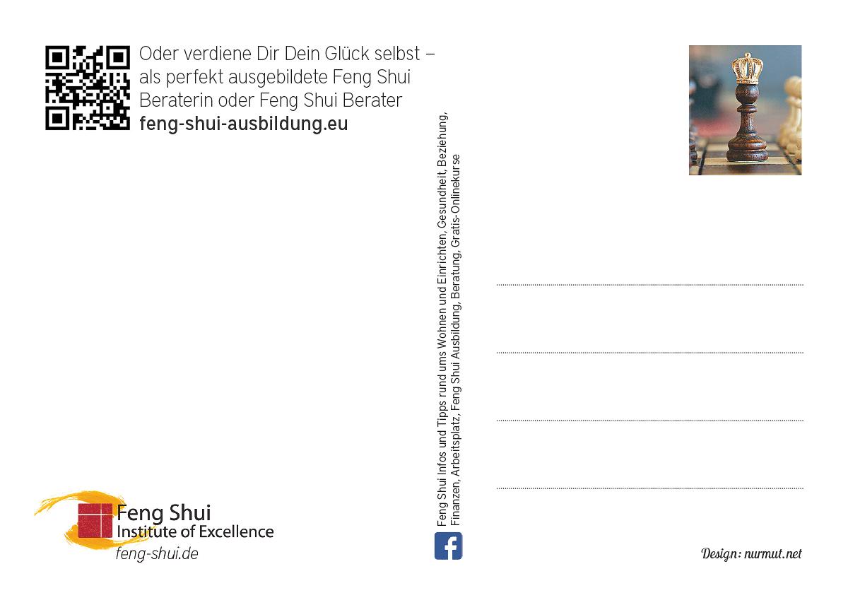 Rückseite – Feng Shui Onlinekurs (Idee, Gestaltung, Werbetext)