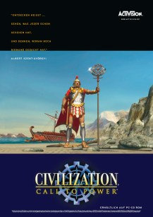 Anzeige für »Civilization – Call to Power«, PC-Strategiespiel von Activision (Layout 1999)