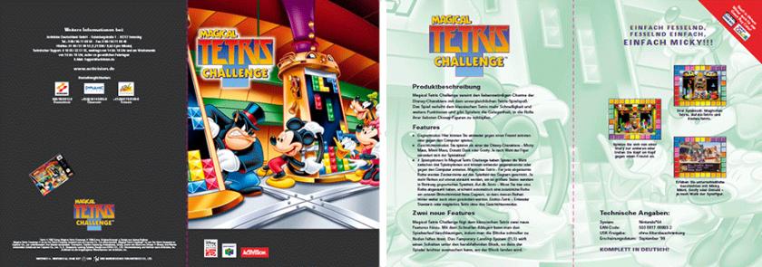 Sales Sheet »Magical Tetris Chalenge« für Nintendo64; Disney/Activision