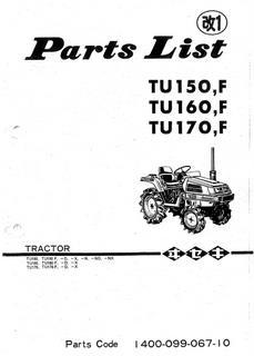 Vues éclatées iseki TU150/TU160/TU170F