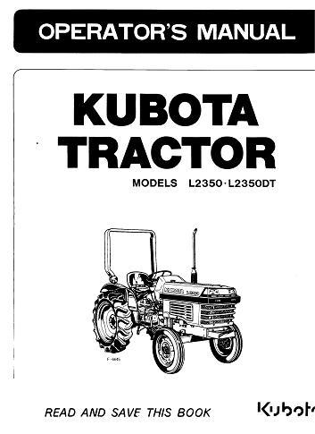 Manuel de l'utilisateur de l'accalmie pour Kubota