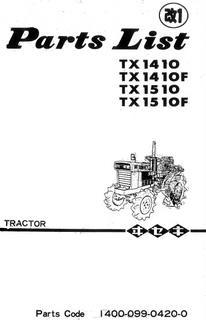 Vues éclatées iseki TX1410/TX1510