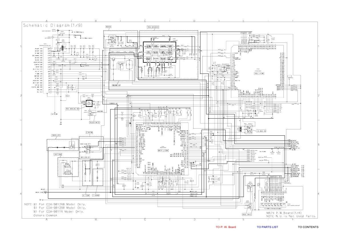 Сервисная инструкция Alpine CDA-9811R, CDA-9812RB (Схема
