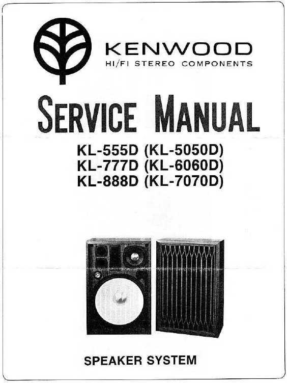 Сервисная инструкция Kenwood KL-555D, KL-777D, KL-888D, KL