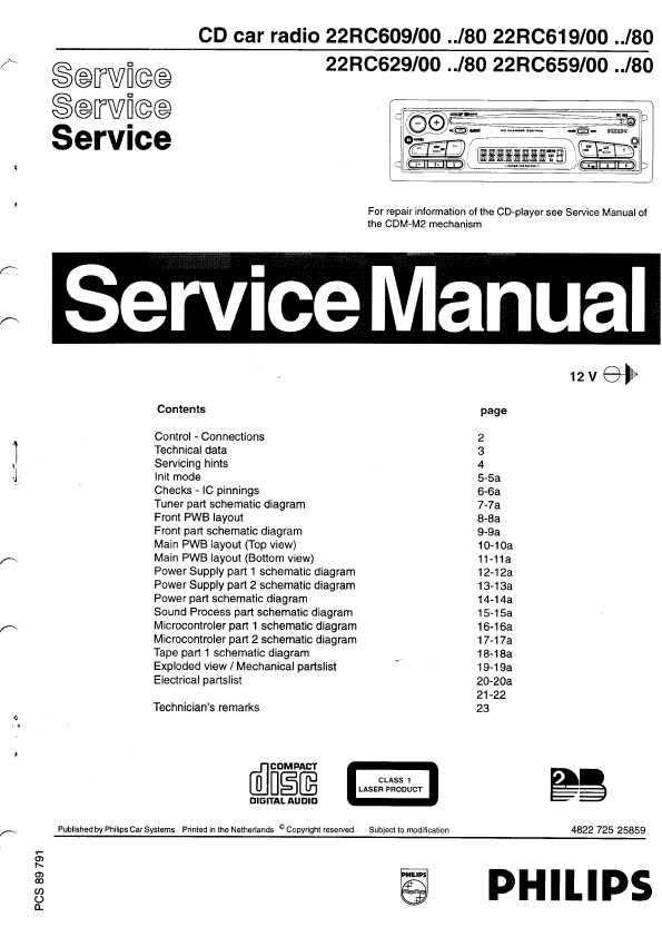 Сервисная инструкция Philips RC-609, RC-619, RC-629, RC