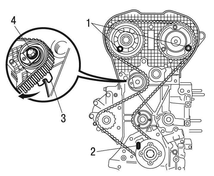 Снятие и установка зубчатого ремня двигателя EW10J4