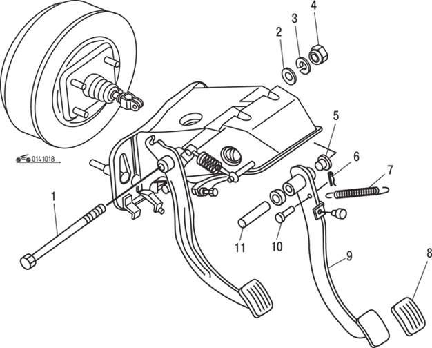 Manual.CountryAuto.ru :: Mazda :: 626 / MX-6 :: Педаль тормоза