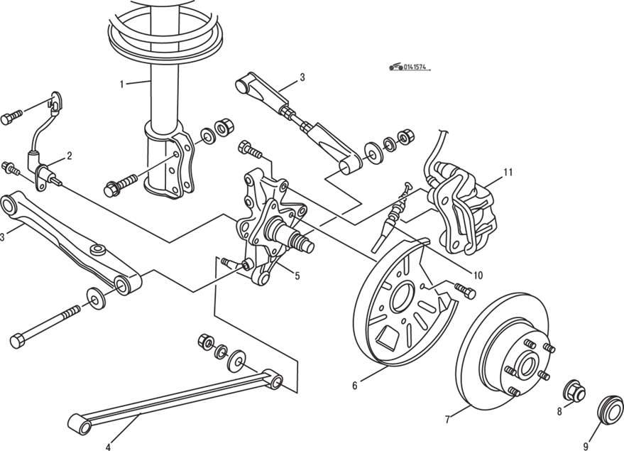 Manual.CountryAuto.ru :: Mazda :: 626 / MX-6 :: Подвеска