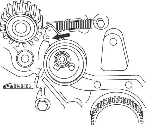 Снятие и установка зубчатого ремня / установка фаз