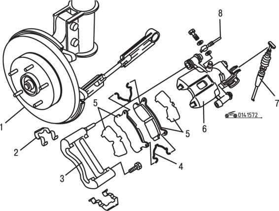 Manual.CountryAuto.ru :: Mazda :: 626 / MX-6 :: Тормозная