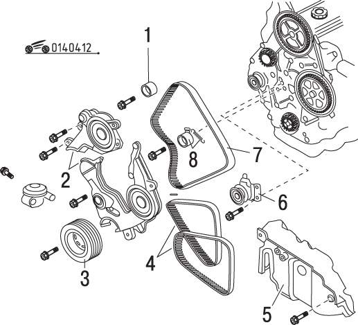 Manual.CountryAuto.ru :: Mazda :: 626 / MX-6 :: Снятие и