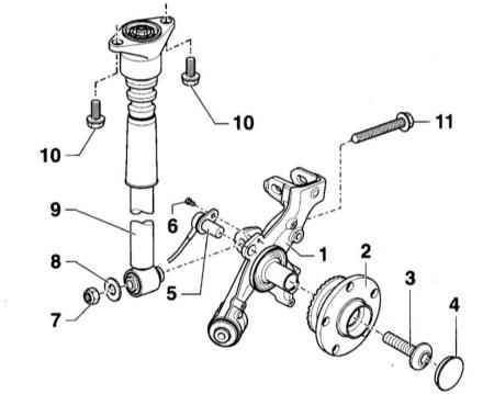 Manual.CountryAuto.ru :: Audi :: A4 B6 :: Подвеска задних колёс