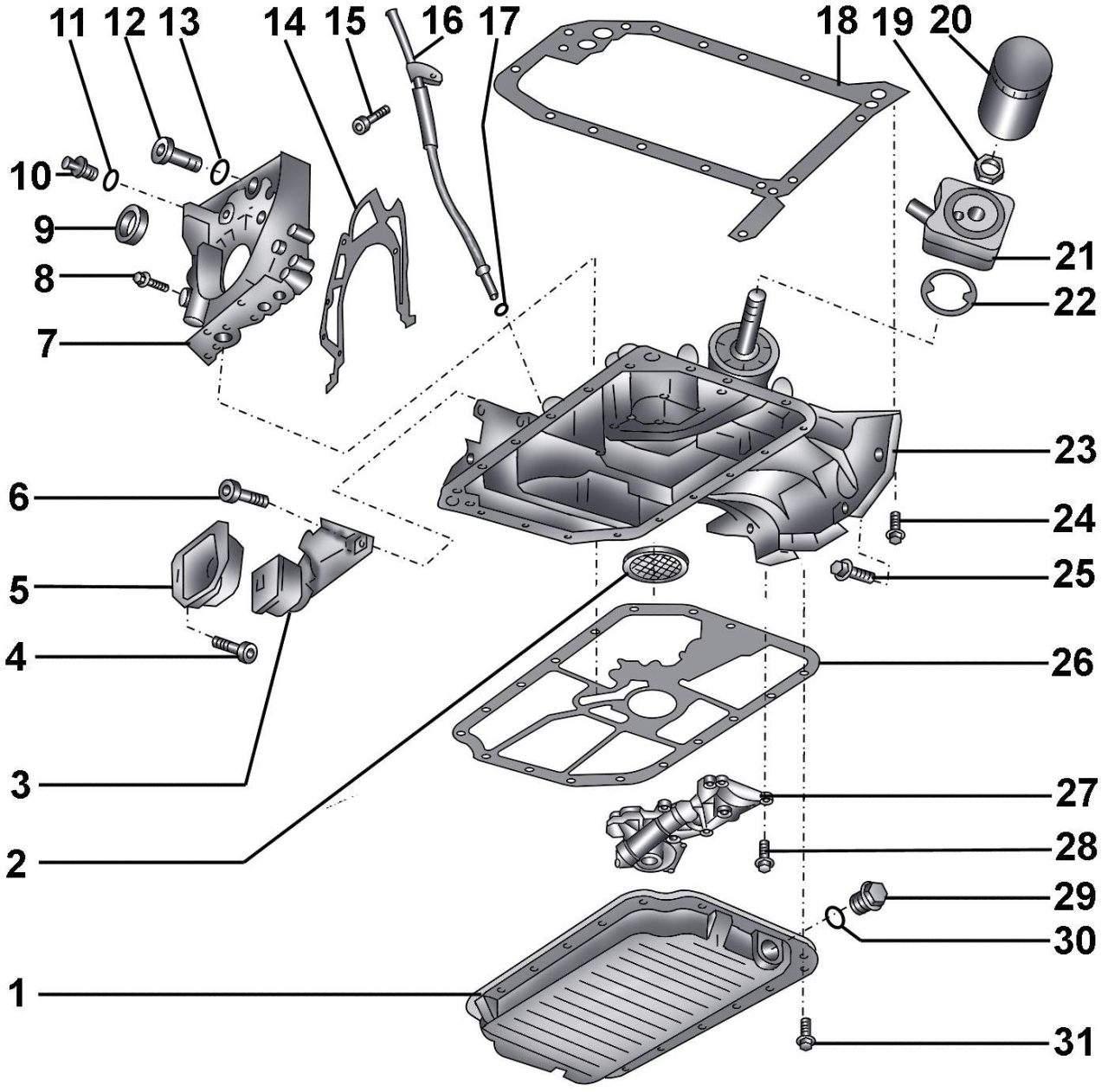 Manual.CountryAuto.ru :: Audi :: A6 C5 :: Масляный поддон