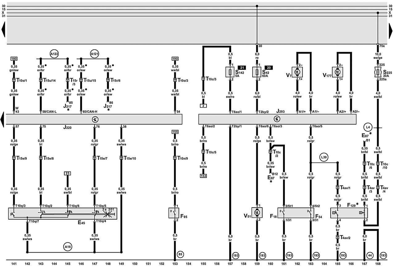 Manual.CountryAuto.ru :: Audi :: A6 C5 :: Схемы 40-44
