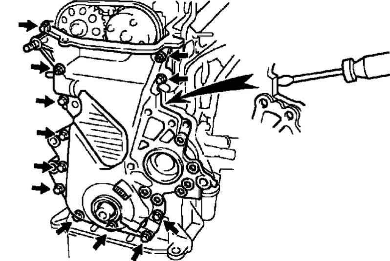 Manual.CountryAuto.ru :: Toyota :: Corolla Verso :: Замена цепи механизма газораспределения