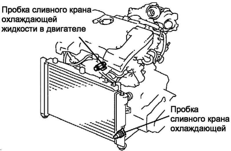 Замена жидкости в системе охлаждения (1CD-FTV) Toyota