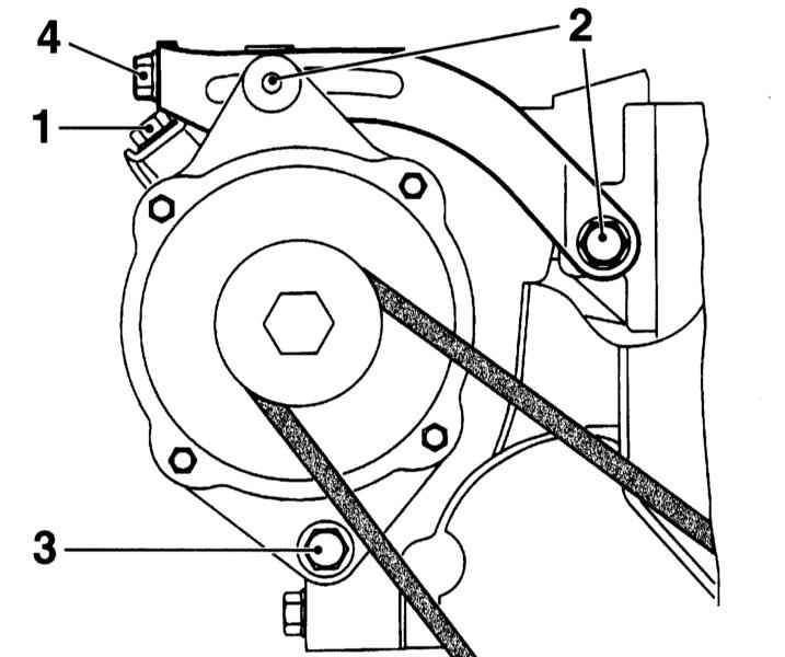 Проверка состояния и замена ремня привода вспомогательных