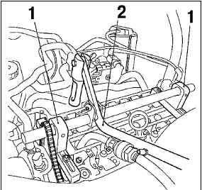 Замена уплотнений стержней клапанов (установленная головка