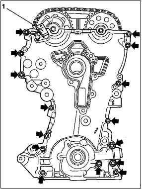 Ремонт двигателя (Z10XE, Z10XEP, без кондиционера) Opel