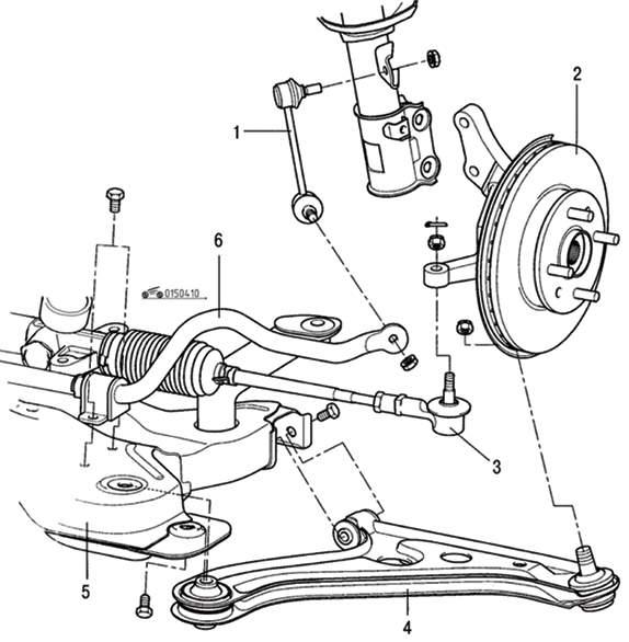 Manual.CountryAuto.ru :: Hyundai :: Getz :: Передняя подвеска
