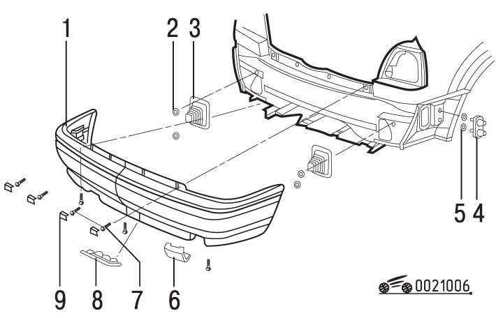 Manual.CountryAuto.ru :: Volkswagen :: Golf III :: Задний