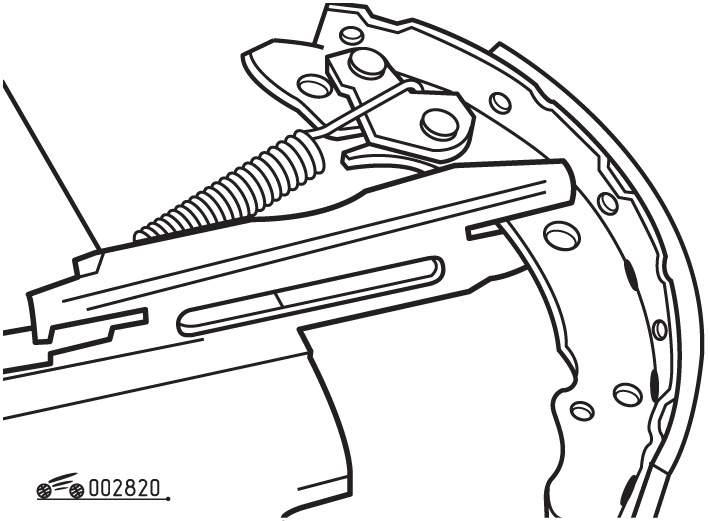 Барабанный тормозной механизм задних колес Volkswagen