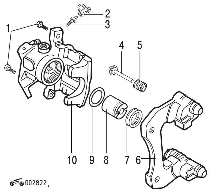 Разборка и сборка тормозного цилиндра дискового тормозного