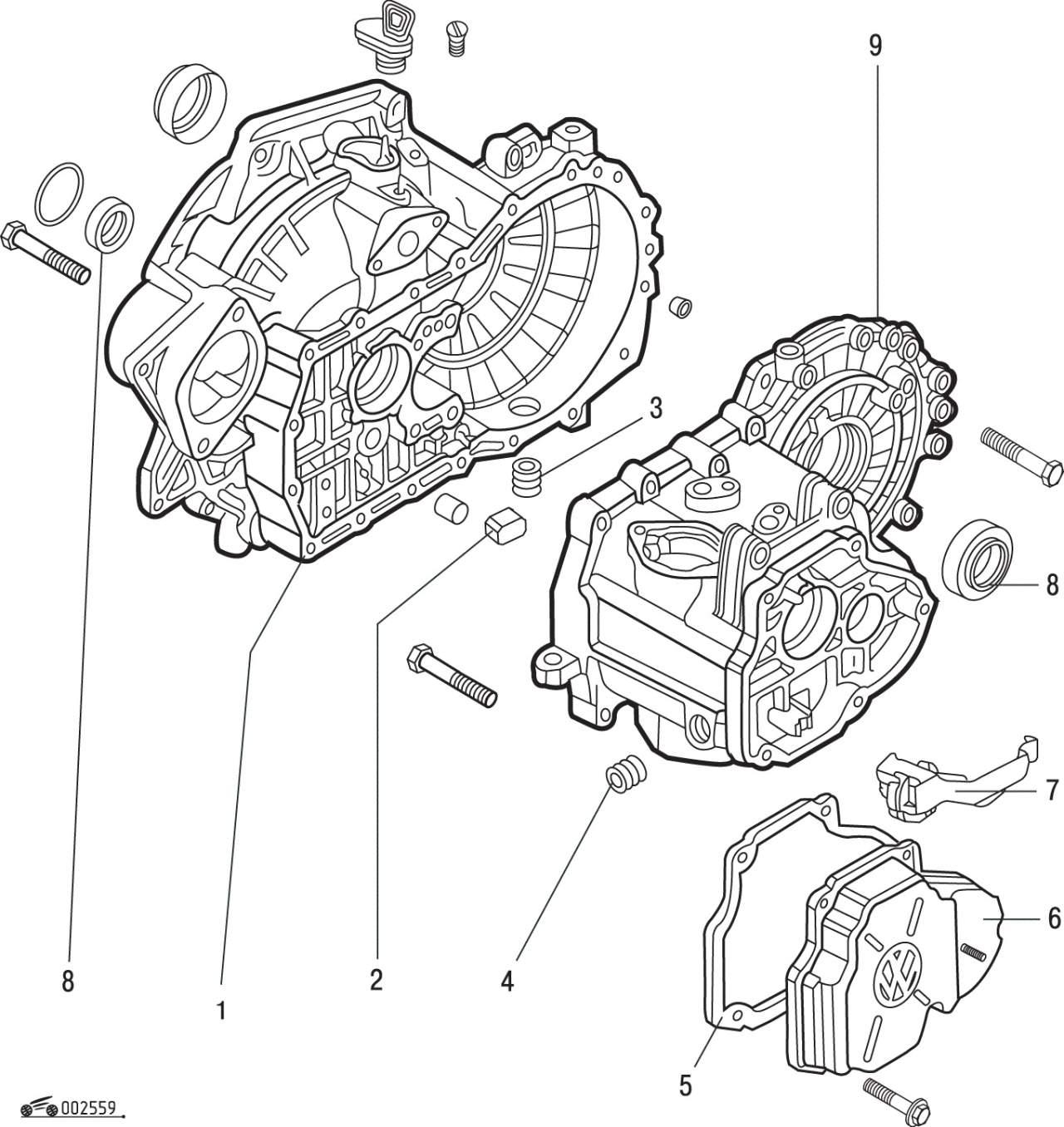 Manual.CountryAuto.ru :: Volkswagen :: Golf III :: Коробка