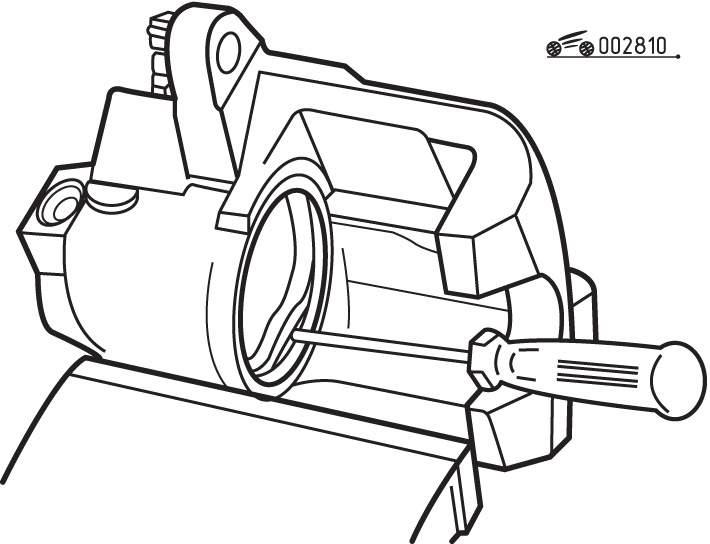 Разборка и сборка тормозного механизма переднего колеса
