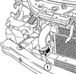 Снятие и установка радиатора системы охлаждения (двигатель