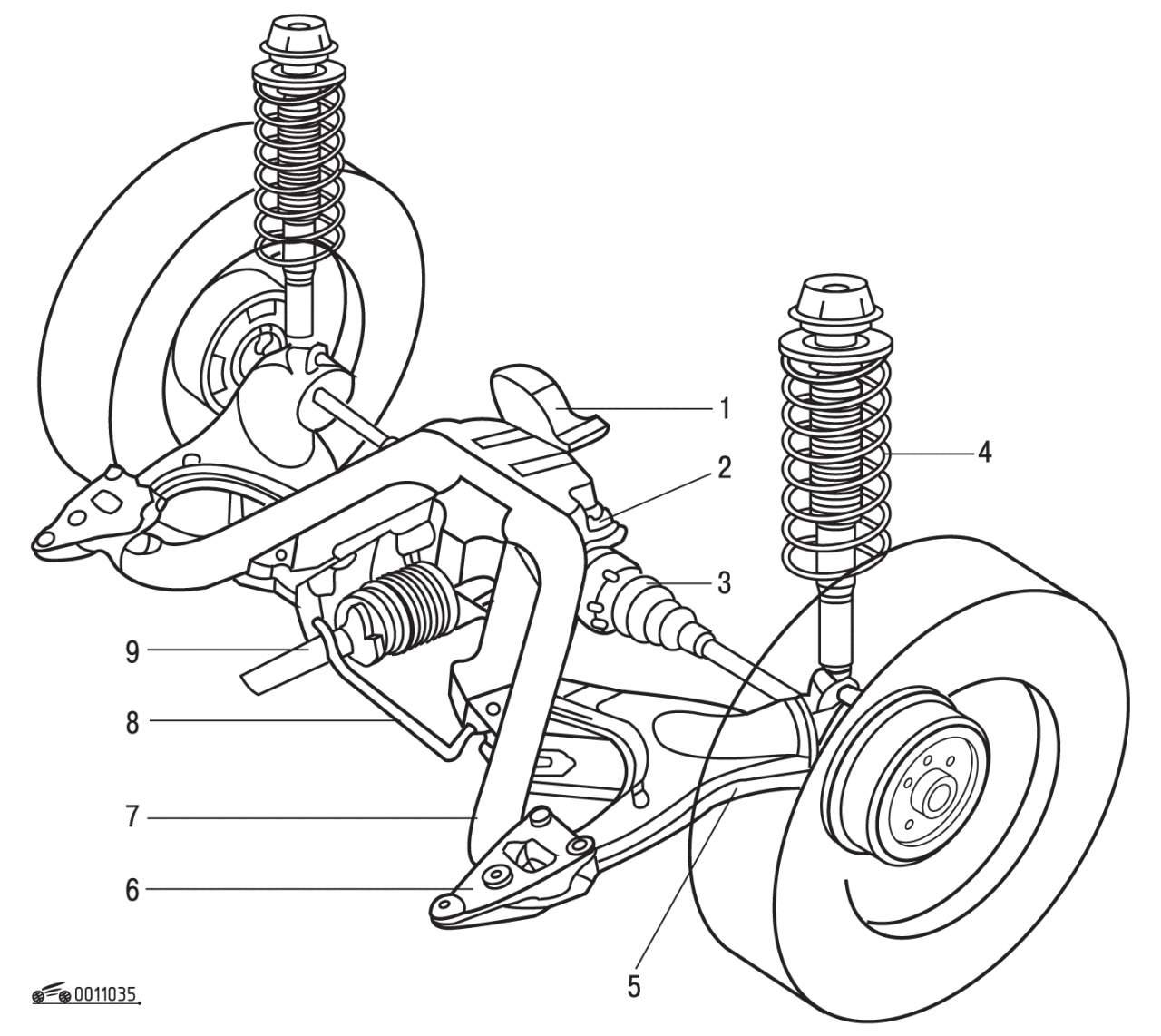 Задняя подвеска полноприводного автомобиля (Syncro