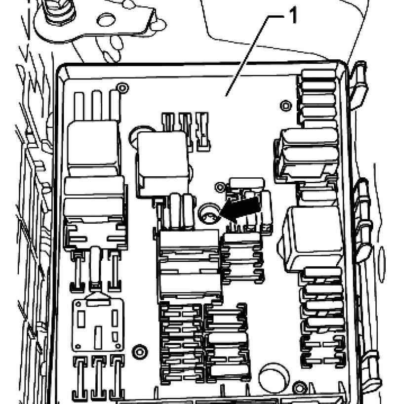 Снятие и установка коммутационного блока в левой части