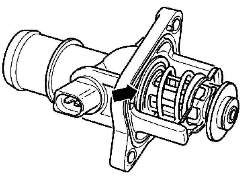Снятие и установка термостата системы охлаждения двигателя