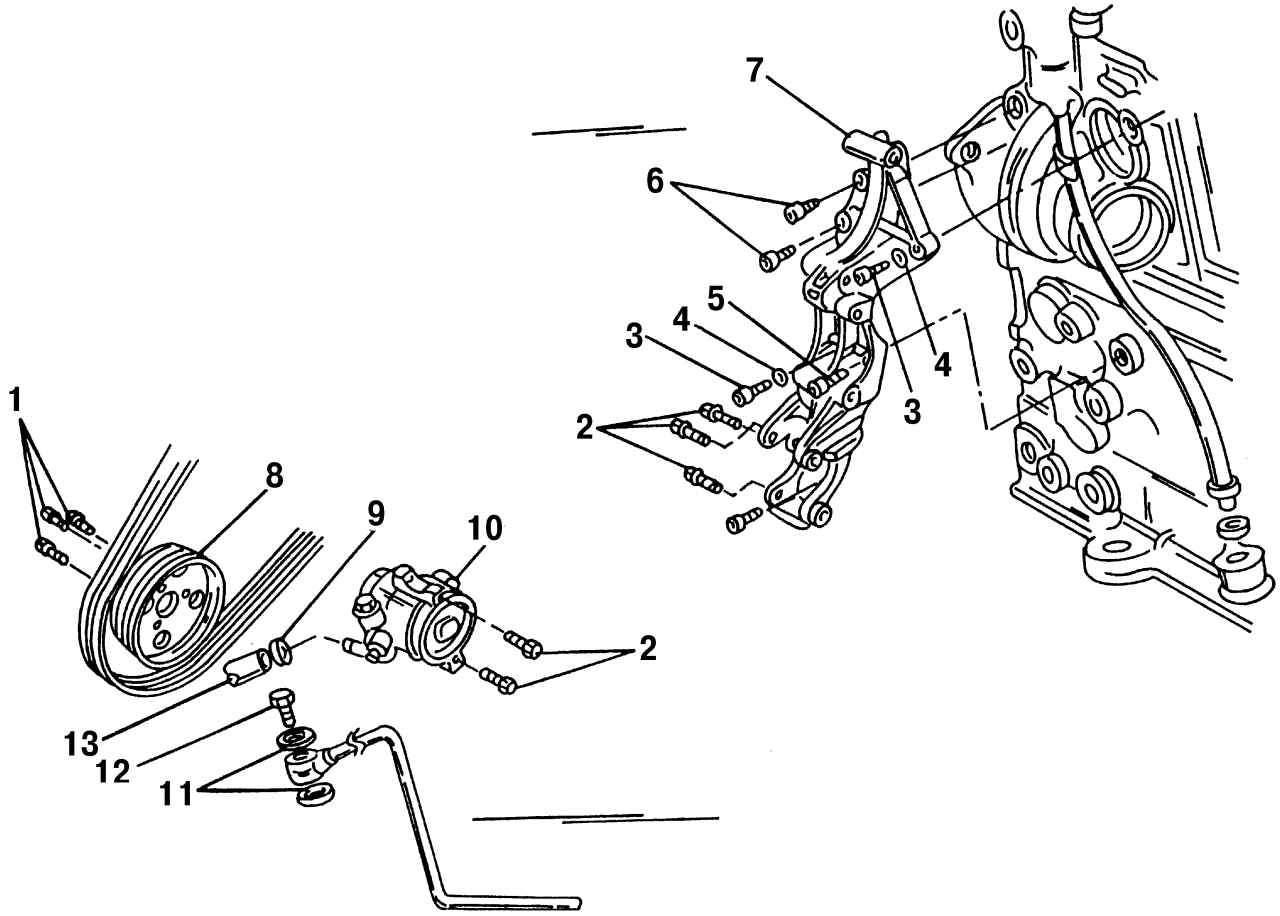 Снятие и установка насоса гидроусилителя рулевого