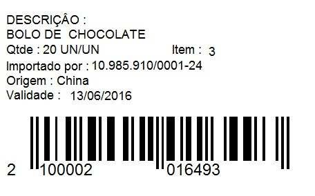 Etiquetas de Informações Detalhadas – FS161