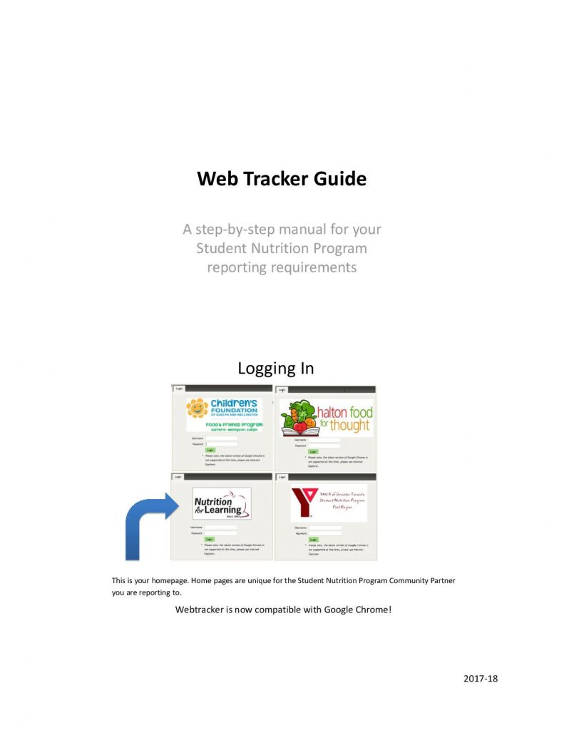 Webtracker Guide