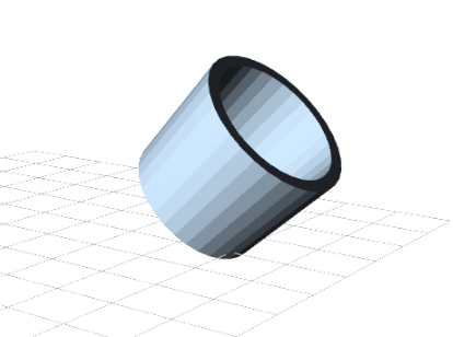 Minimug model, tilted 45°.