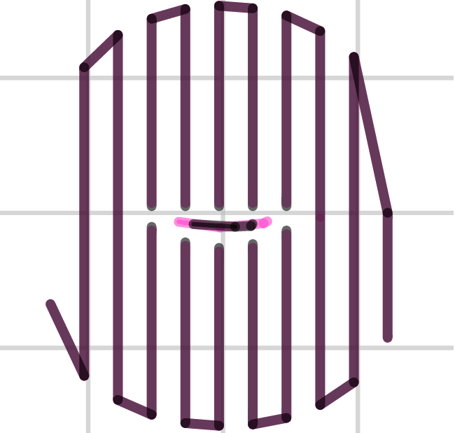 Support infill pattern: Rectilinear